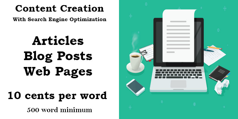 We provide search engine optimized content for 10 cents per word.
